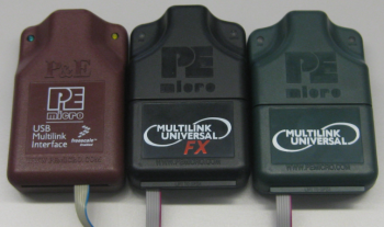 USB Multilink (brown), USB Multilink Universal FX (black) and USB Multilink Universal (green)