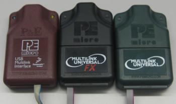 USB Multilink (brown), USB Multilink Universal FX (black) and USB Multilink Universal (green)
