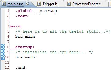 Minimal assembly code