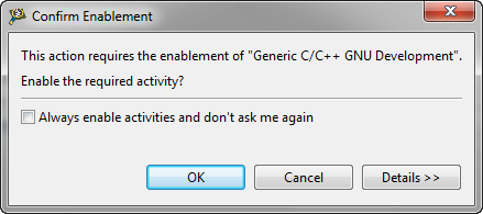 Confirm Enablement for C/C++ GNU Development
