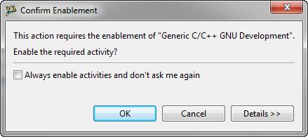 Confirm Enablement for C/C++ GNU Development