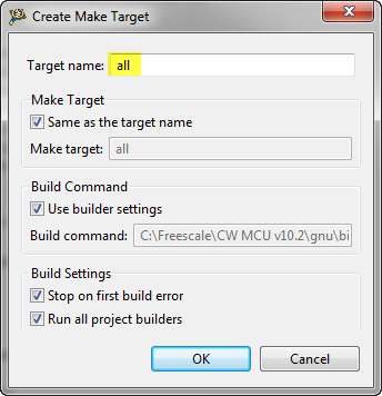 Create new make target