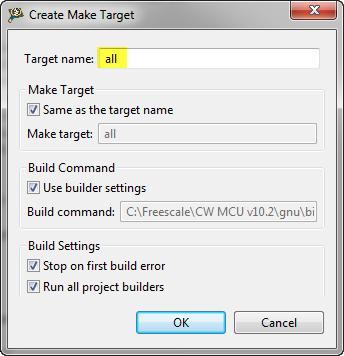 Create new make target