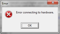 Error connecting to the hardware