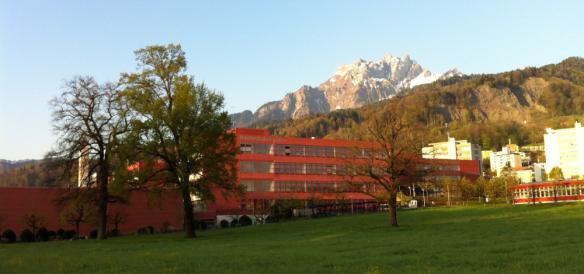 Campus Horw with Pilatus Mountain