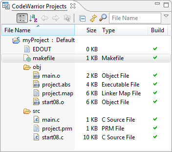 Make File Project with Folders