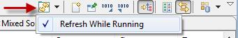 Memory refresh while running