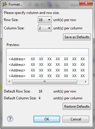 Memory View Format