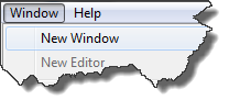 Menu to create a new eclipse IDE main window
