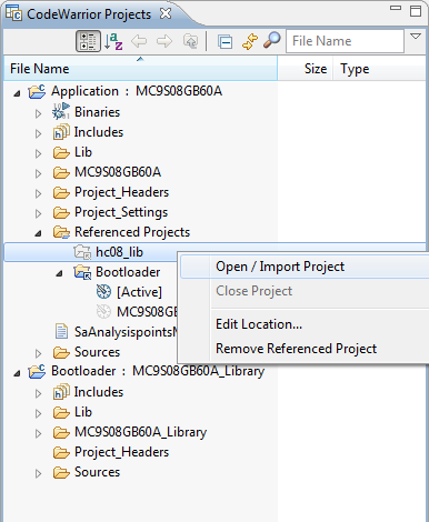 Importing referenced projects into workspace