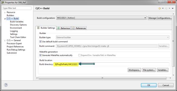 Build Directory Settings