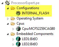 Configuration Folder in Processor Expert
