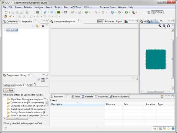 CodeWarrior Eclipse with Processor Expert Views