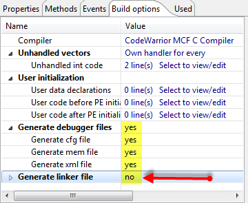 Debugger and Linker File Generation
