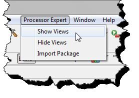 Show and Hide Processor Expert Views