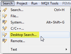 Desktop Search Menu