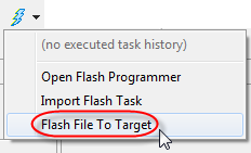 Flash File To Target Menu