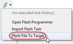 Flash File To Target Menu