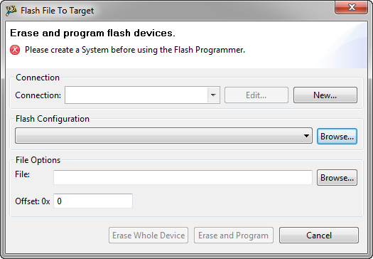 Flash File To Target Dialog
