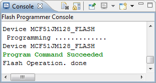 Flash Programmer Console