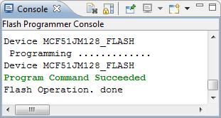 Flash Programmer Console