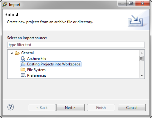 Import Existing Project