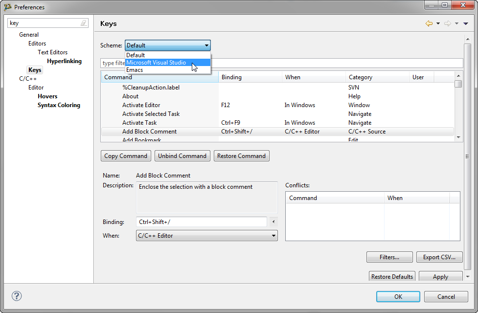 how to change key bindings in runescape