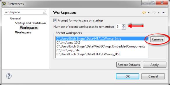 Managing Recent Workspaces - DZone Java