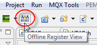 Offline Register View Toolbar Icon
