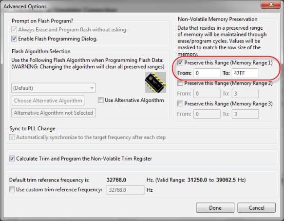 Preserve Memory Range