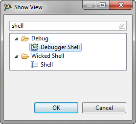 Show View: Debugger Shell