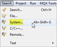 System Search Menu
