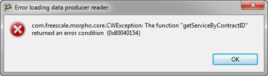 Error loading data producer reader