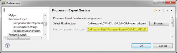 Processor Expert Preferences