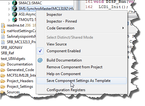 Save Component Settings as Template