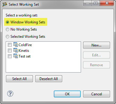 Window Working Sets