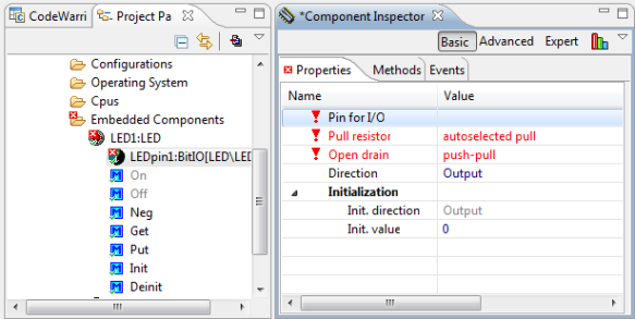 Added BitIO interface with missing property settings