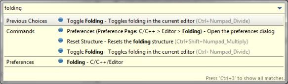 Folding Commands