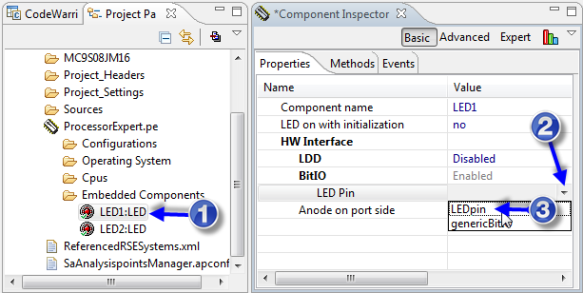 LED Inspector and assigning pin