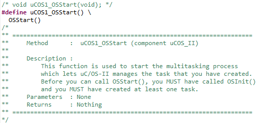 OSStart Implementation with macro