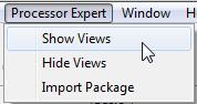 Show Processor Expert Views