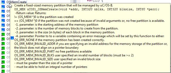 uCos OSMemCreate Tooltip Help