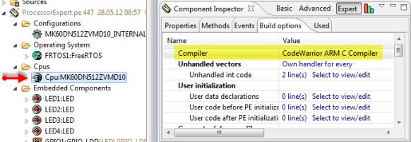 Compiler in CPU Properties