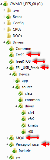 Drivers Folder with Component Files Folder