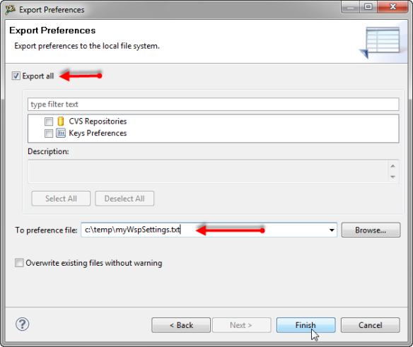 how to overwrite a existing file in java