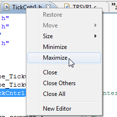 Maximize Context Menu