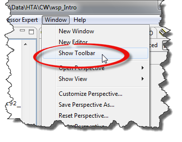 Show Toolbar Menu