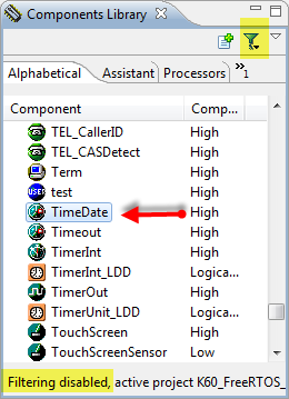 TimeDate in the Components Library, Filtering Disabled