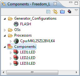 3 LED's in Components View