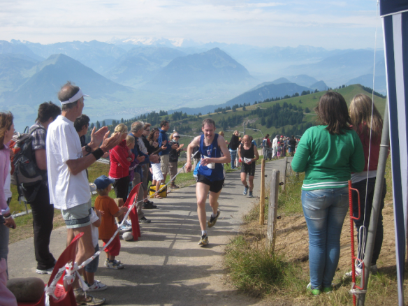 Athletes approaching the finish line